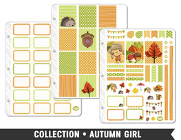 Full Collection • Autumn Girl Planner Stickers - Planner Penny