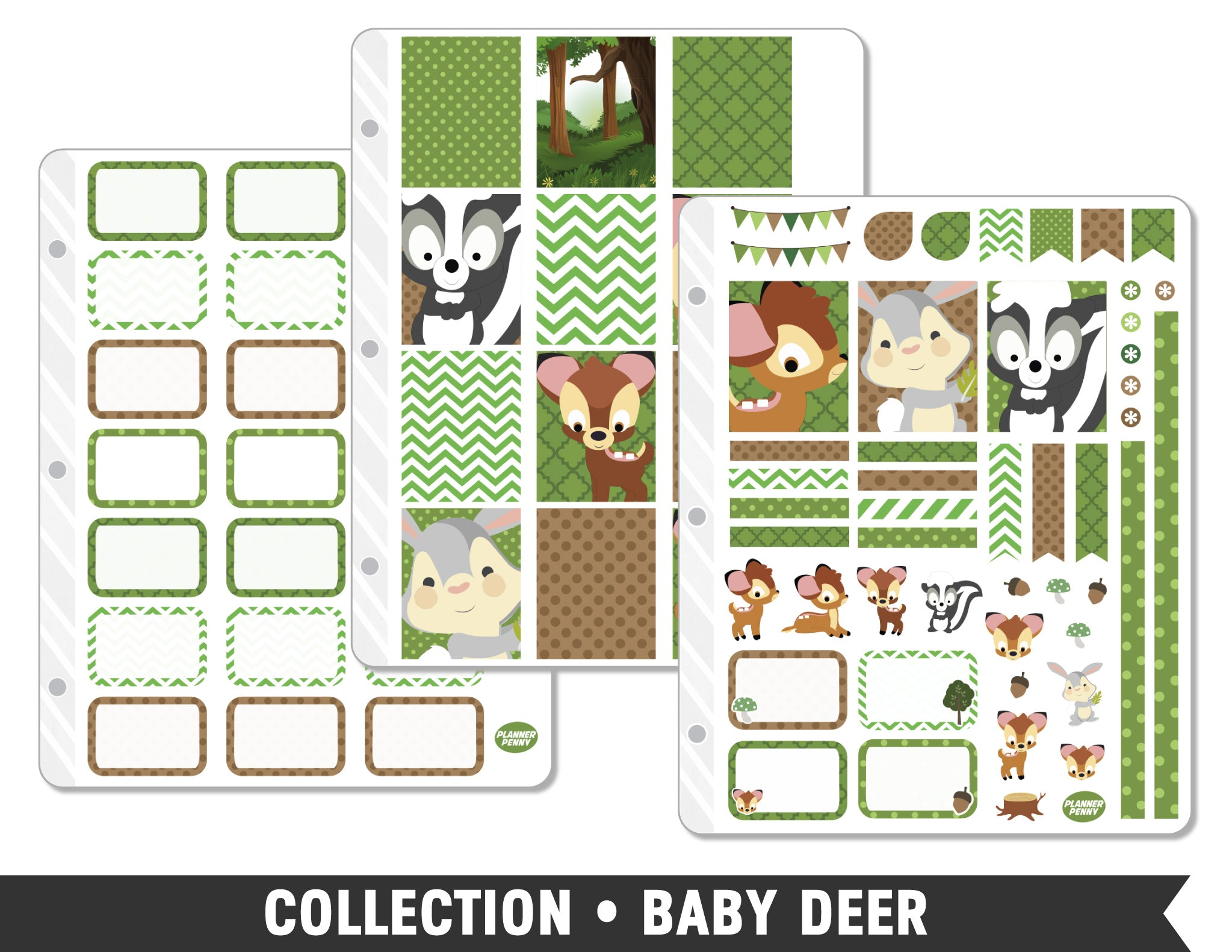 Collection • Baby Deer Planner Stickers - Planner Penny