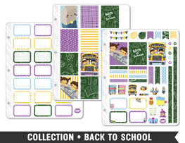 Full Collection • Back to School Planner Stickers - Planner Penny