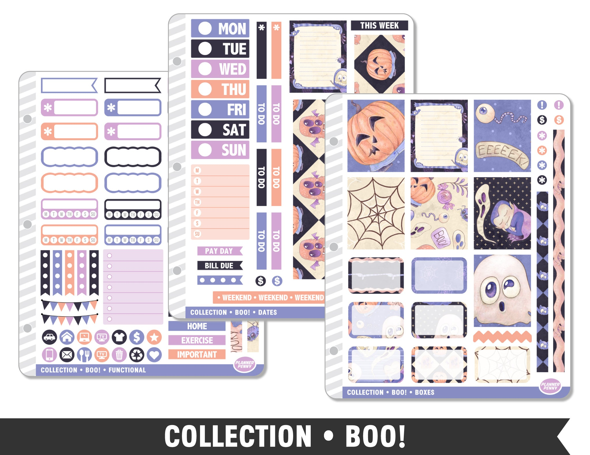 Collection • Boo! Planner Stickers - Planner Penny
