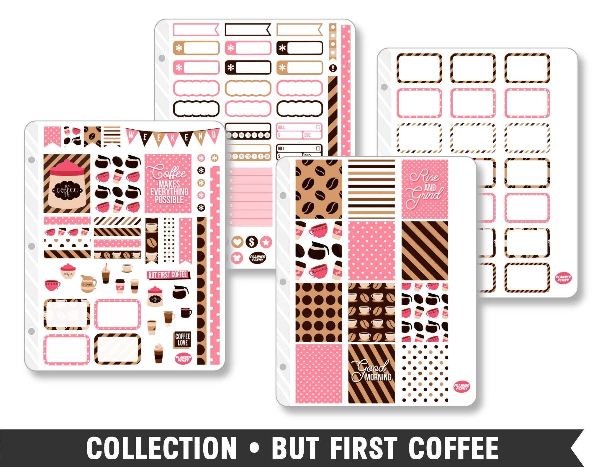 Collection • But First Coffee Planner Stickers - Planner Penny