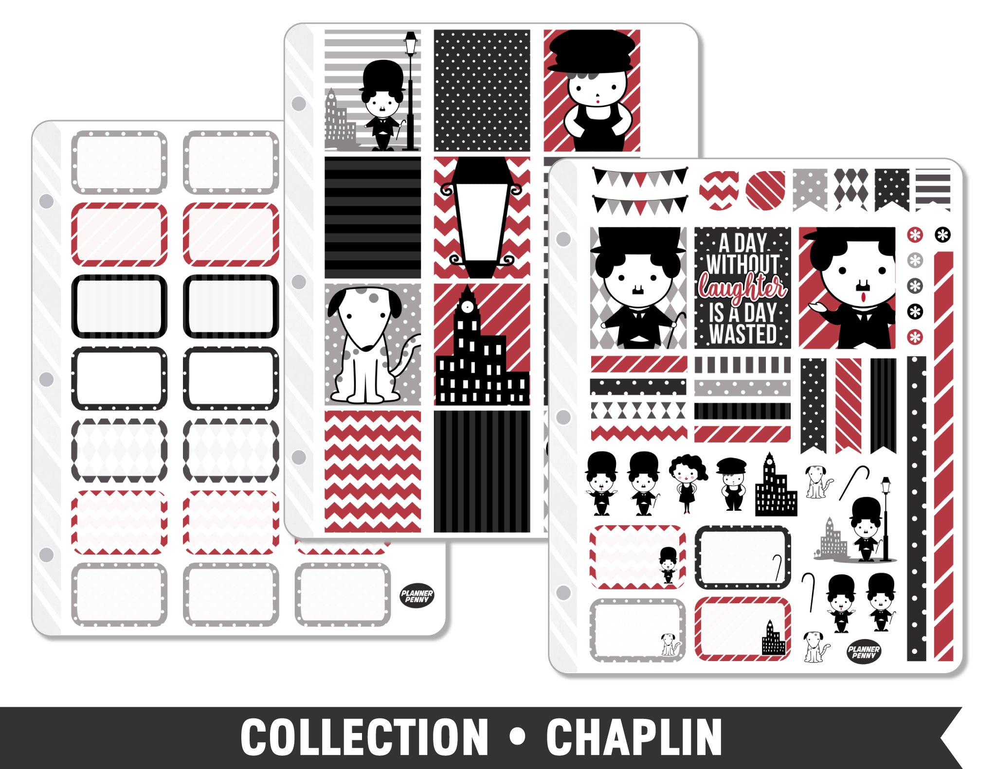 Full Collection • Chaplin Planner Stickers - Planner Penny