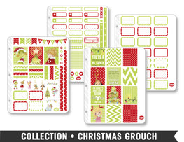 Full Collection • Christmas Grouch Planner Stickers - Planner Penny