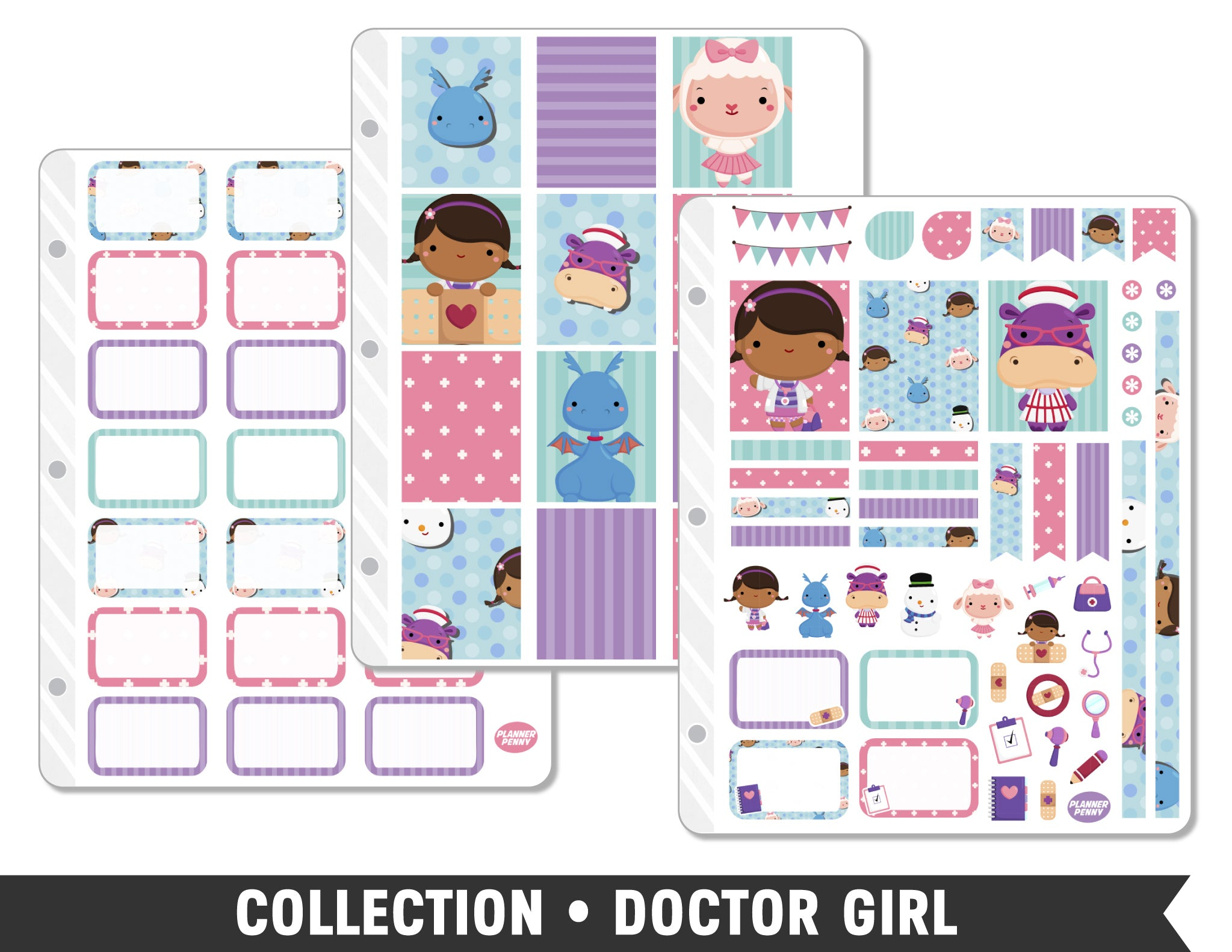 Collection • Doctor Girl Planner Stickers - Planner Penny