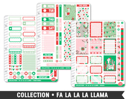 Collection • Fa La La La Llama Planner Stickers - Planner Penny