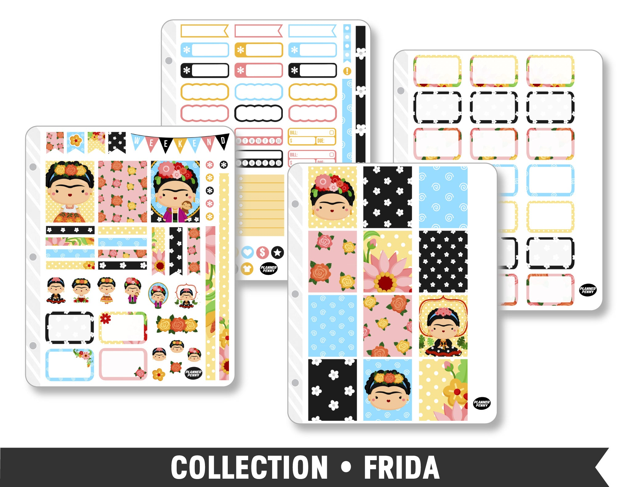 Full Collection • Frida Planner Stickers - Planner Penny