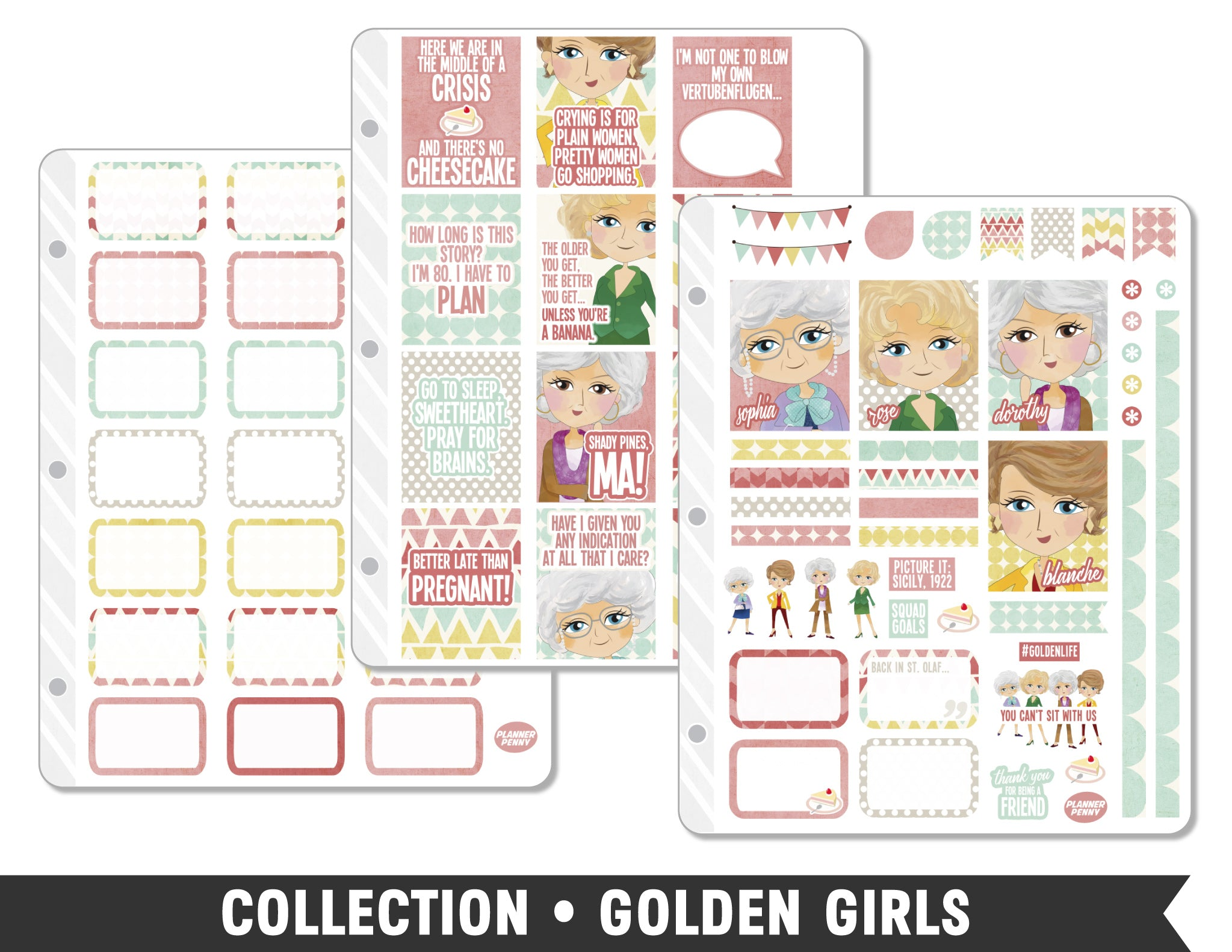 Collection • Golden Girls Planner Stickers - Planner Penny