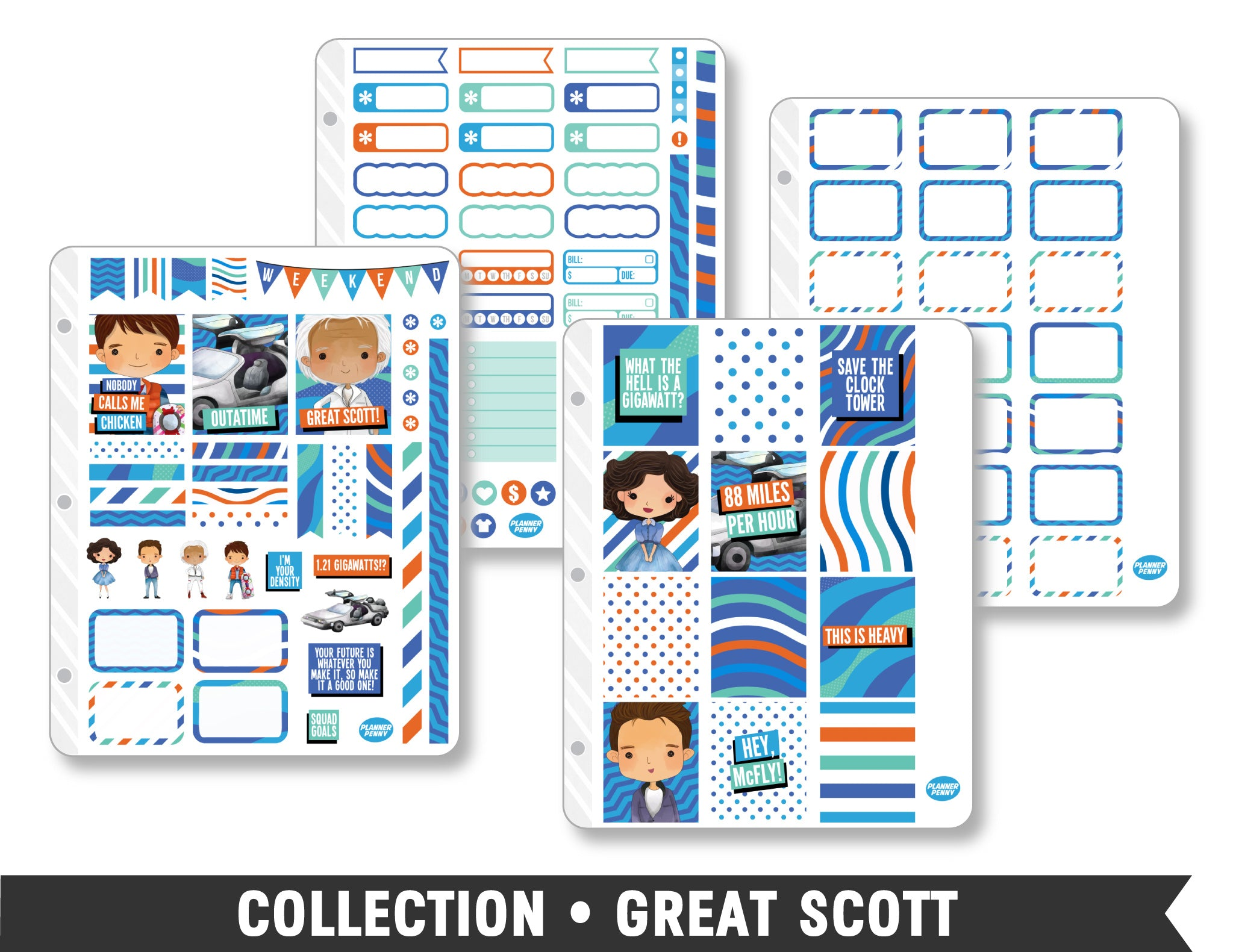 Full Collection • Great Scott Planner Stickers - Planner Penny