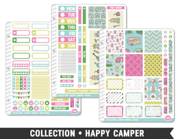 Full Collection • Happy Camper Planner Stickers - Planner Penny