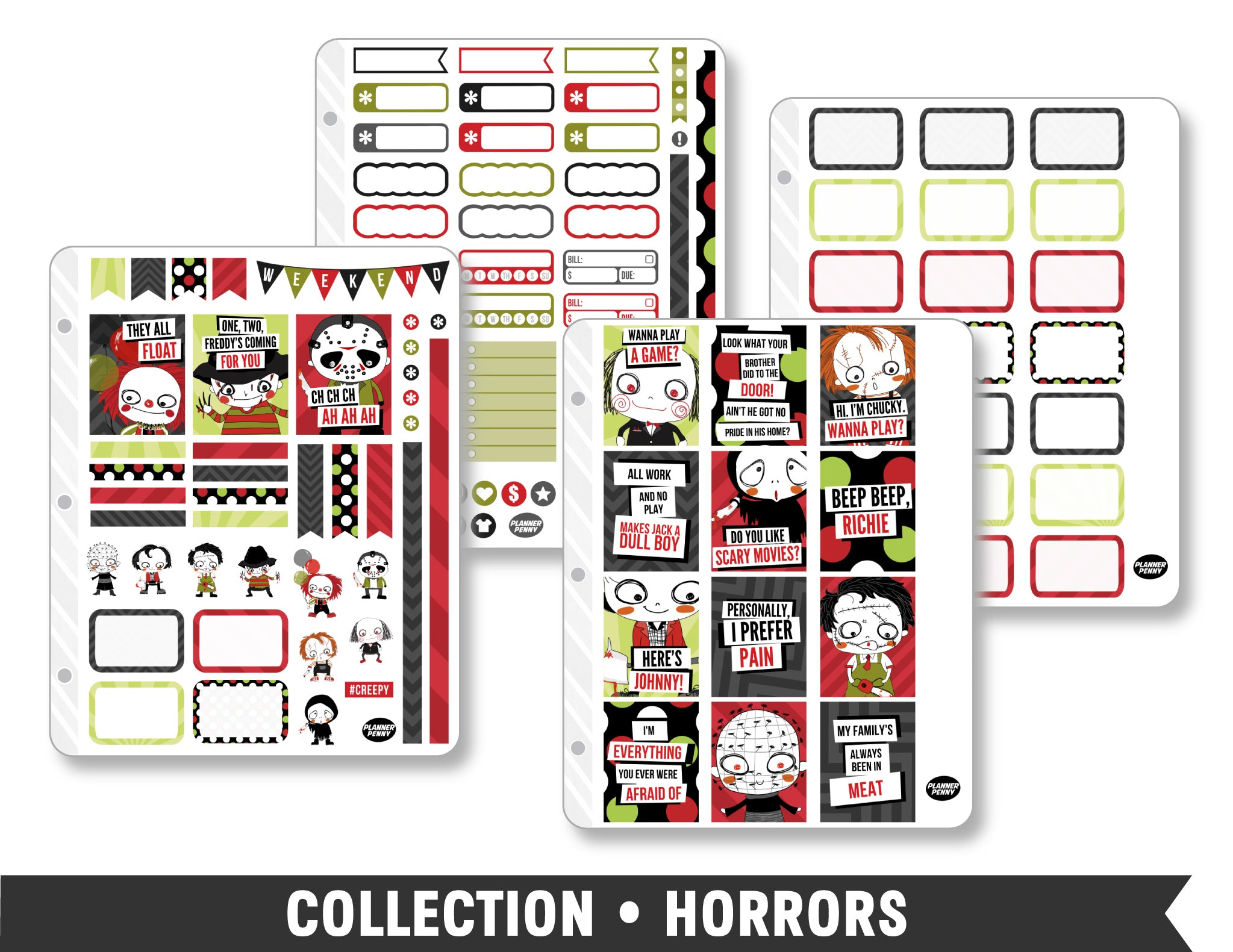Collection • Horrors Planner Stickers - Planner Penny