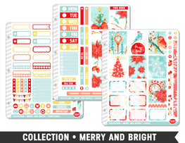 Collection • Merry and Bright Planner Stickers - Planner Penny