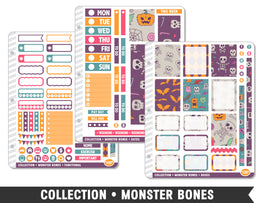 Full Collection • Monster Bones Planner Stickers - Planner Penny