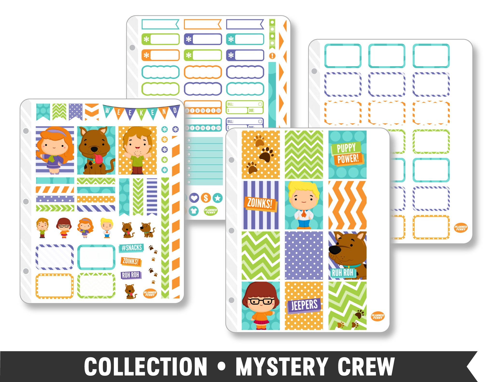 Full Collection • Mystery Crew Planner Stickers - Planner Penny