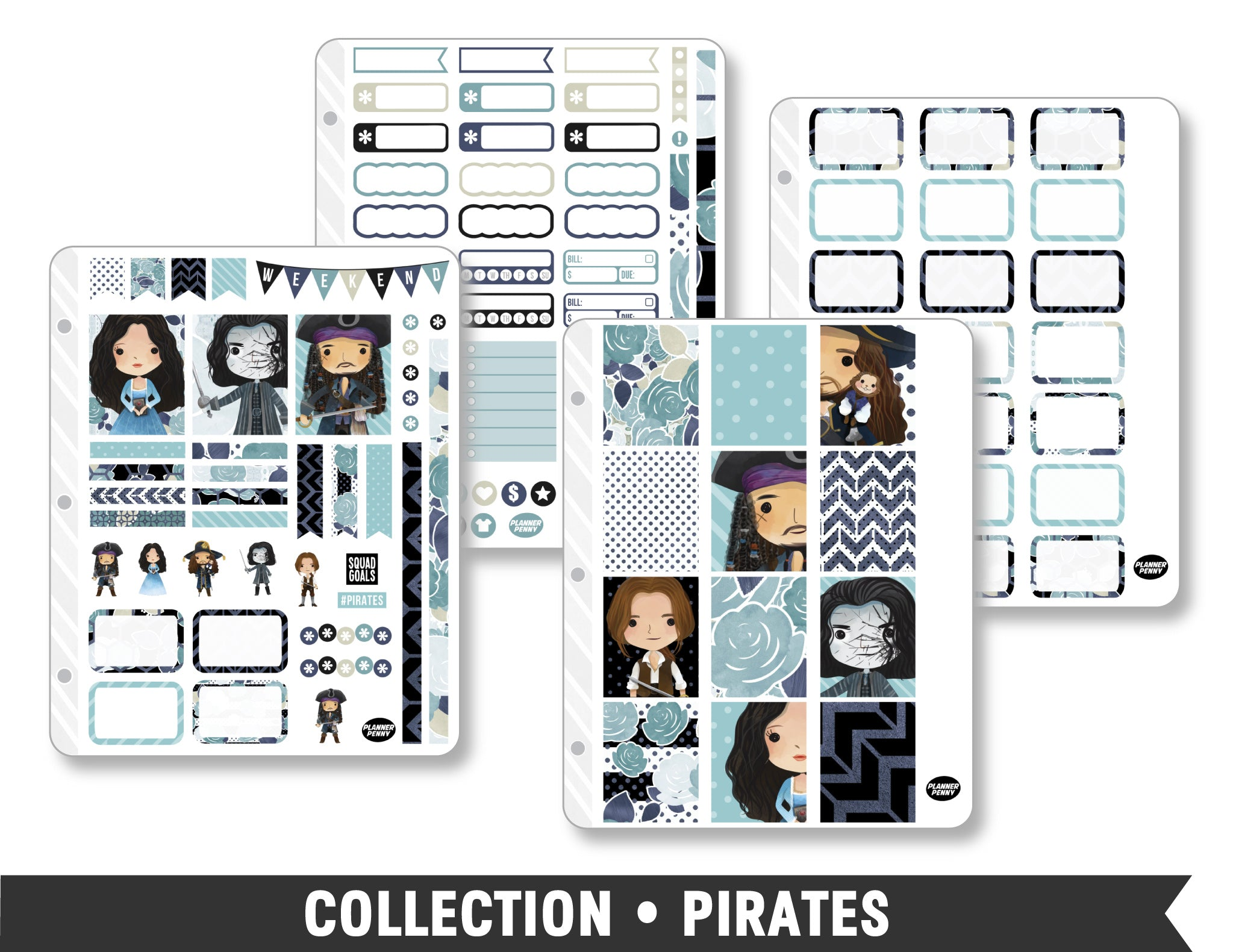 Full Collection • Pirates Planner Stickers - Planner Penny