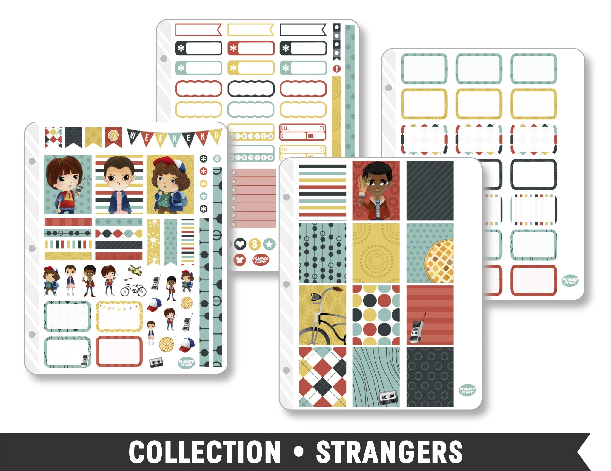 Collection • Strangers Planner Stickers - Planner Penny