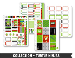 Full Collection •  Turtle Ninjas Planner Stickers - Planner Penny