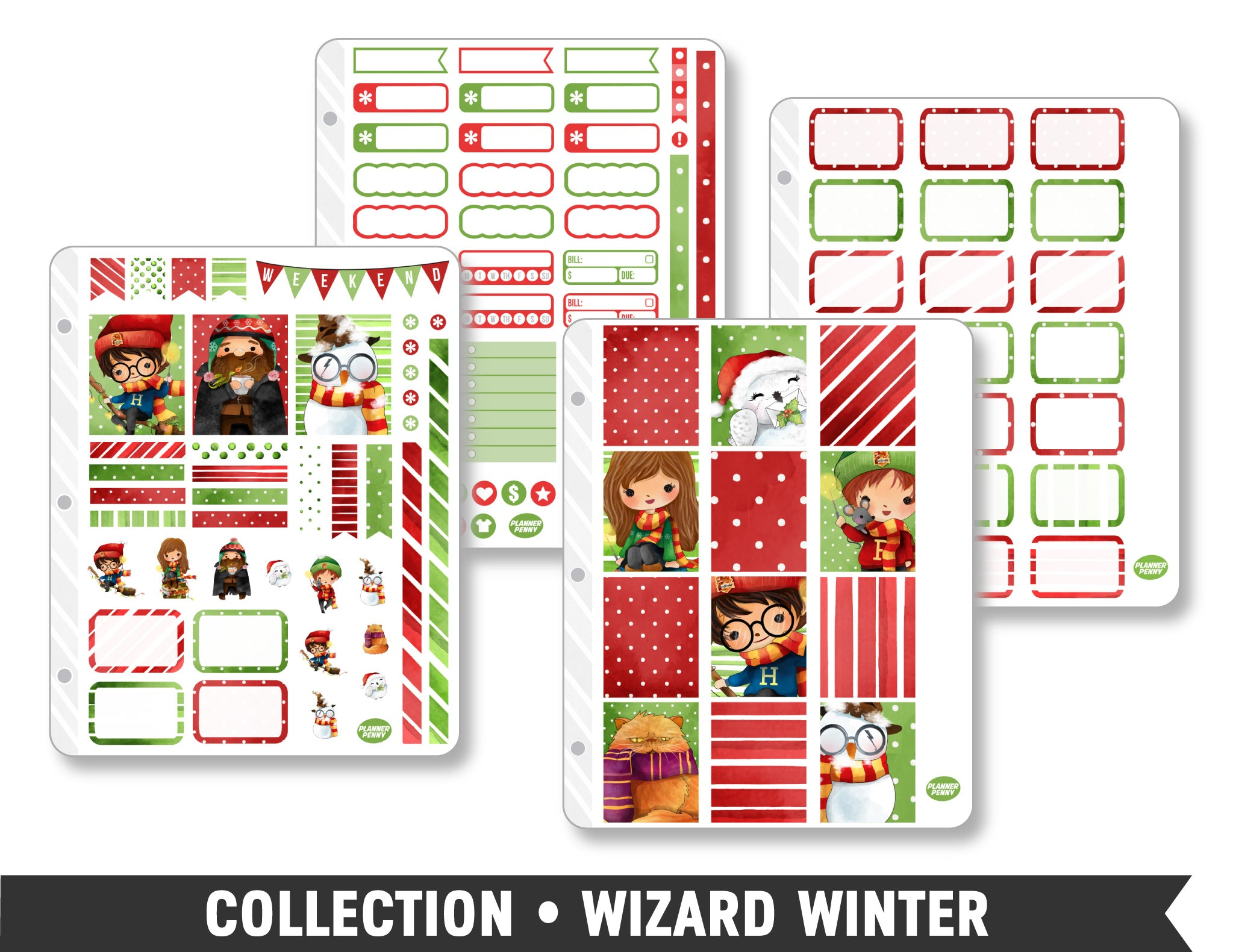 Full Collection • Wizard Winter Planner Stickers - Planner Penny