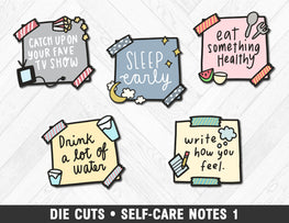 Die Cuts • Self-Care Notes 1 - Planner Penny