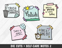 Die Cuts • Self-Care Notes 2 - Planner Penny