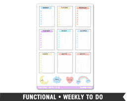 Functional • Weekly To Do Planner Stickers - Planner Penny