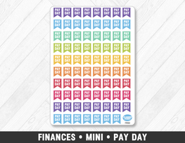 Finances • Mini Pay Day Planner Stickers - Planner Penny