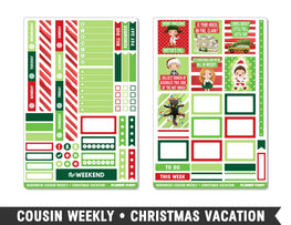 Hobonichi Cousin • Christmas Vacation • Weekly Spread Planner Stickers