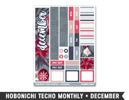 Hobonichi Techo A6 • December • Monthly Spread Planner Stickers