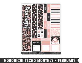 Hobonichi Techo A6 • February • Monthly Spread Planner Stickers - Planner Penny