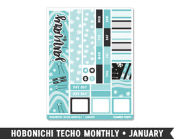 Hobonichi Techo A6 • January • Monthly Spread Planner Stickers - Planner Penny