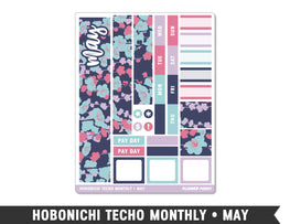 Hobonichi Techo A6 • May • Monthly Spread Planner Stickers