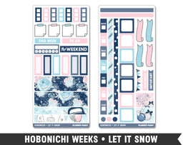 Hobonichi Weeks • Let It Snow • Weekly Spread Planner Stickers