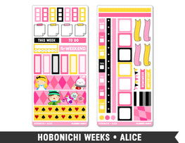 Hobonichi Weeks • Alice • Weekly Spread Planner Stickers - Planner Penny