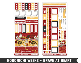 Hobonichi Weeks • Brave At Heart • Weekly Spread Planner Stickers - Planner Penny
