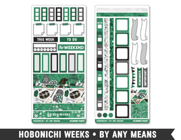 Hobonichi Weeks • By Any Means • Weekly Spread Planner Stickers - Planner Penny