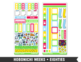 Hobonichi Weeks • Eighties • Weekly Spread Planner Stickers - Planner Penny