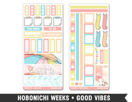 Hobonichi Weeks • Good Vibes • Weekly Spread Planner Stickers - Planner Penny