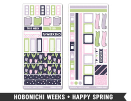 Hobonichi Weeks • Happy Spring • Weekly Spread Planner Stickers - Planner Penny