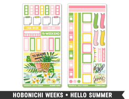 Hobonichi Weeks • Hello Summer • Weekly Spread Planner Stickers - Planner Penny