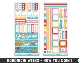 Hobonichi Weeks • How You Doin'? • Weekly Spread Planner Stickers - Planner Penny