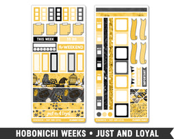 Hobonichi Weeks • Just and Loyal • Weekly Spread Planner Stickers - Planner Penny