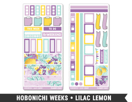 Hobonichi Weeks • Lilac Lemon • Weekly Spread Planner Stickers - Planner Penny
