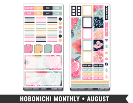 Hobonichi Monthly • August • Monthly Spread Planner Stickers - Planner Penny