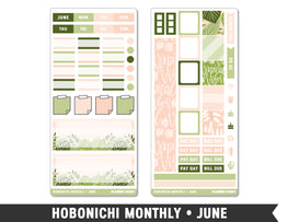 Hobonichi Monthly • June • Monthly Spread Planner Stickers - Planner Penny