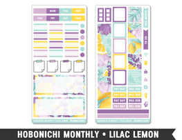 Hobonichi Monthly • Lilac Lemon • Monthly Spread Planner Stickers - Planner Penny