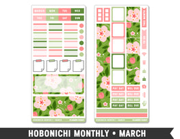 Hobonichi Monthly • March • Monthly Spread Planner Stickers - Planner Penny