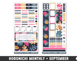 Hobonichi Weeks • September • Monthly Spread Planner Stickers - Planner Penny