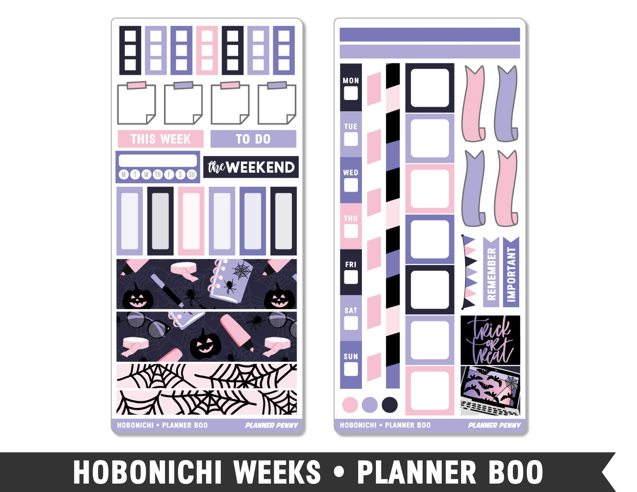 Hobonichi Weeks • Planner Boo • Weekly Spread Planner Stickers - Planner Penny