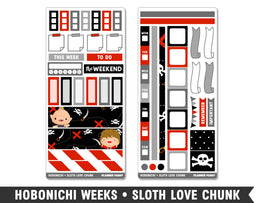 Hobonichi Weeks • Sloth Love Chunk • Weekly Spread Planner Stickers - Planner Penny