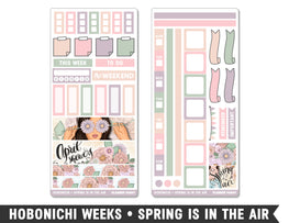 Hobonichi Weeks • Spring Is In The Air • Weekly Spread Planner Stickers - Planner Penny