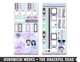 Hobonichi Weeks • The Graceful Dead • Weekly Spread Planner Stickers - Planner Penny